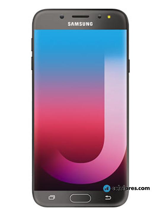 cb4b632f52 Fotografía grande Varias vistas del Samsung Galaxy J7 Pro Dorado y Negro.  En la pantalla