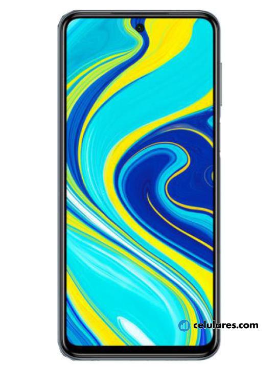 Fotografía grande Varias vistas del Xiaomi Redmi Note 9 Pro Azul y Blanco y Negro. En la pantalla se muestra Varias vistas